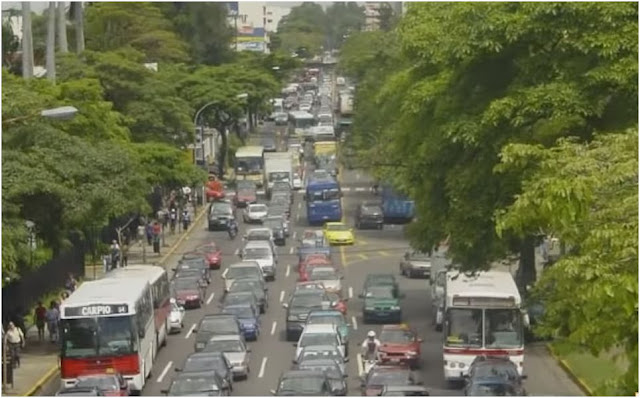 Stuck in traffic in San Jose Costa Rica
