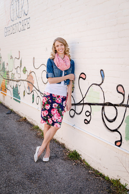 Floral skirts are a fun and versatile way to brighten up your wardrobe.  See 4 different ways to style a floral skirt by clicking the link!
