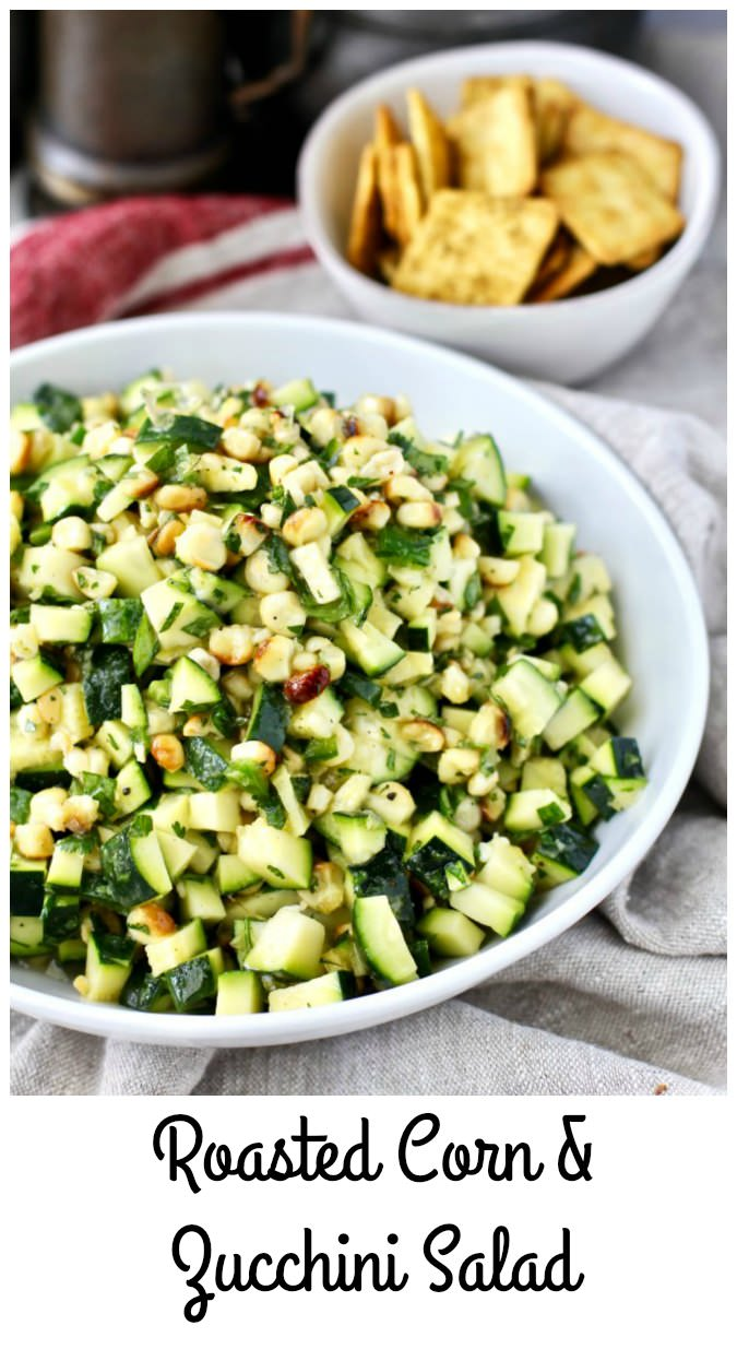 zucchini and roasted corn salad