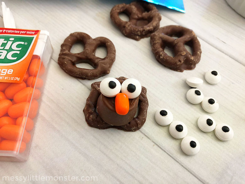 Easy thanksgiving treats for kids - step by step instructions