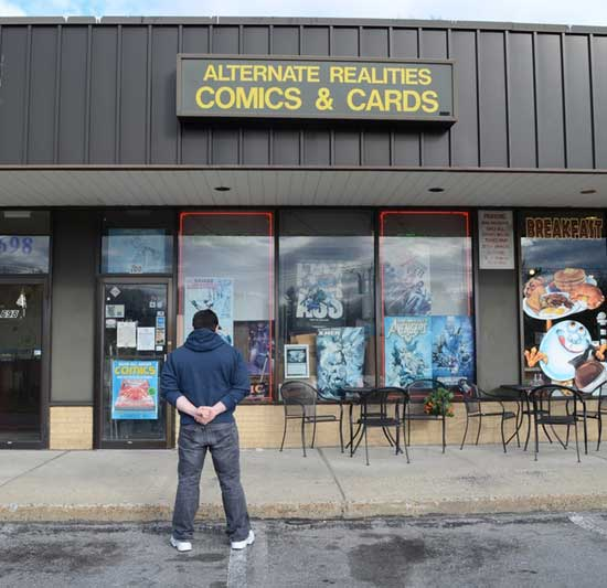 A look at the comic shop Alternate Realities, which closed a few years ago.