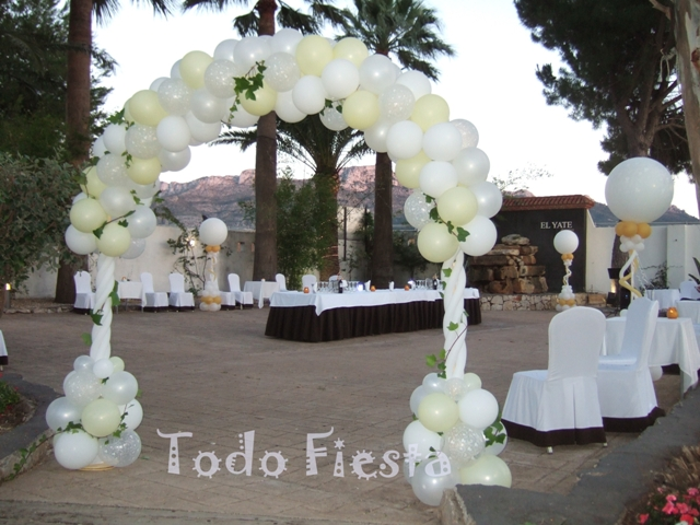 Decoraci n con globos de todo fiesta decoraciones para bodas for Todo decoracion