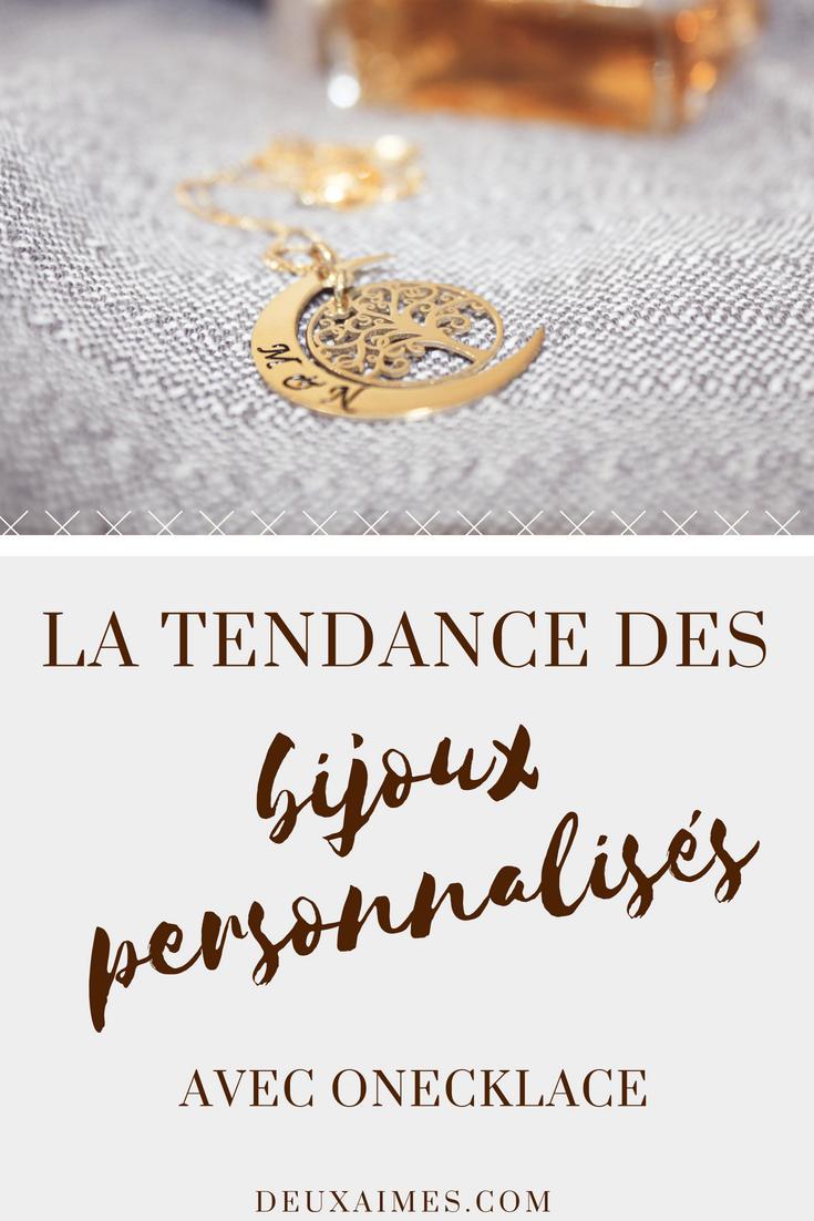 La tendance des bijoux personnalisés est à l'honneur sur le blog ! @DeuxAimes
