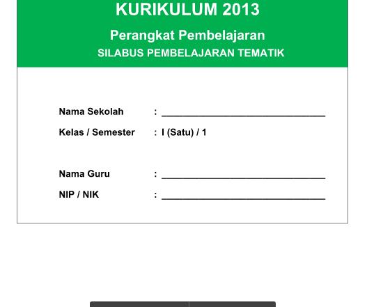 Silabus Integrasi PROTA PJOK Kelas 1 Kurikulum 2013 Semester 1 Revisi 2016