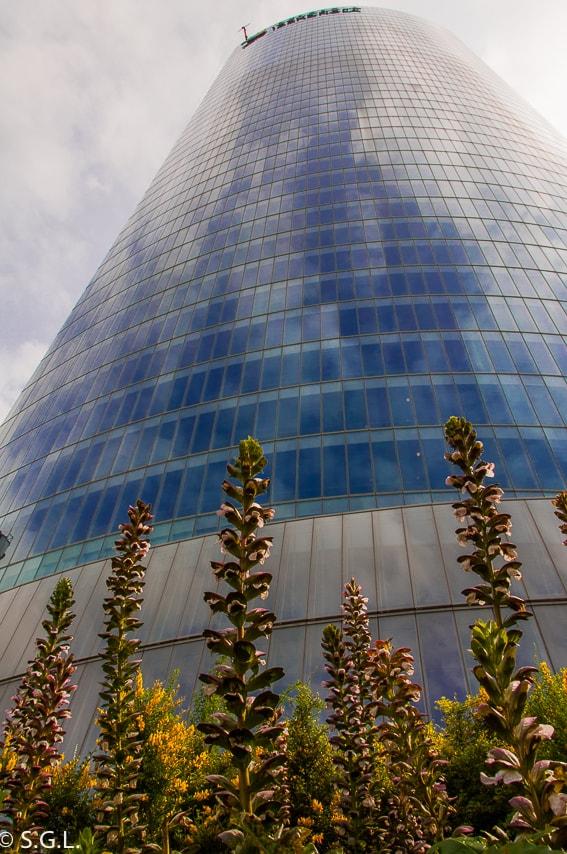La torre de Iberdrola en Bilbao