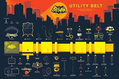 """Batman """"Utility Belt"""" Screen Print by Tom Whalen x Mondo"""