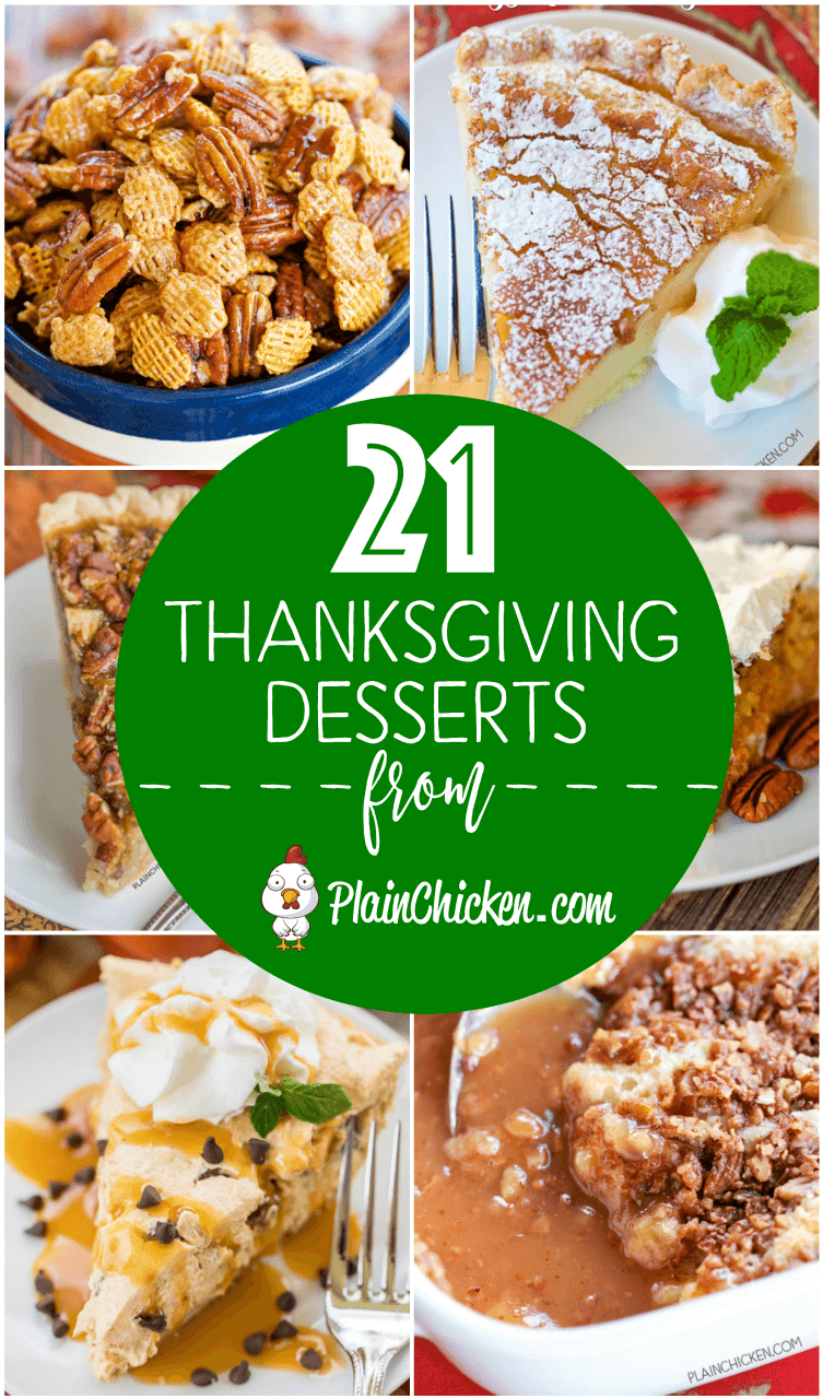 21 of the best thanksgiving desserts plain chicken