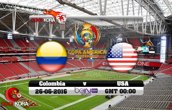 مشاهدة مباراة كولومبيا وأمريكا اليوم 26-6-2016 كوبا أمريكا