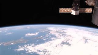 Widok Ziemi z kamery w technologii HDEV, zamontowanej na ISS.