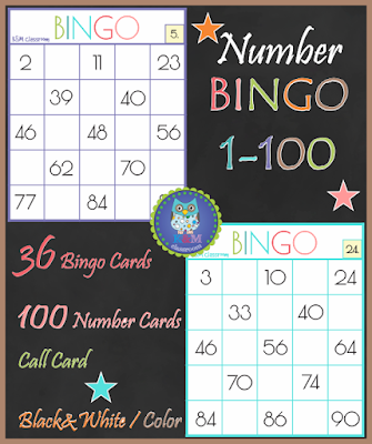 https://www.teacherspayteachers.com/Product/Numbers-Bingo-1-100-2833236