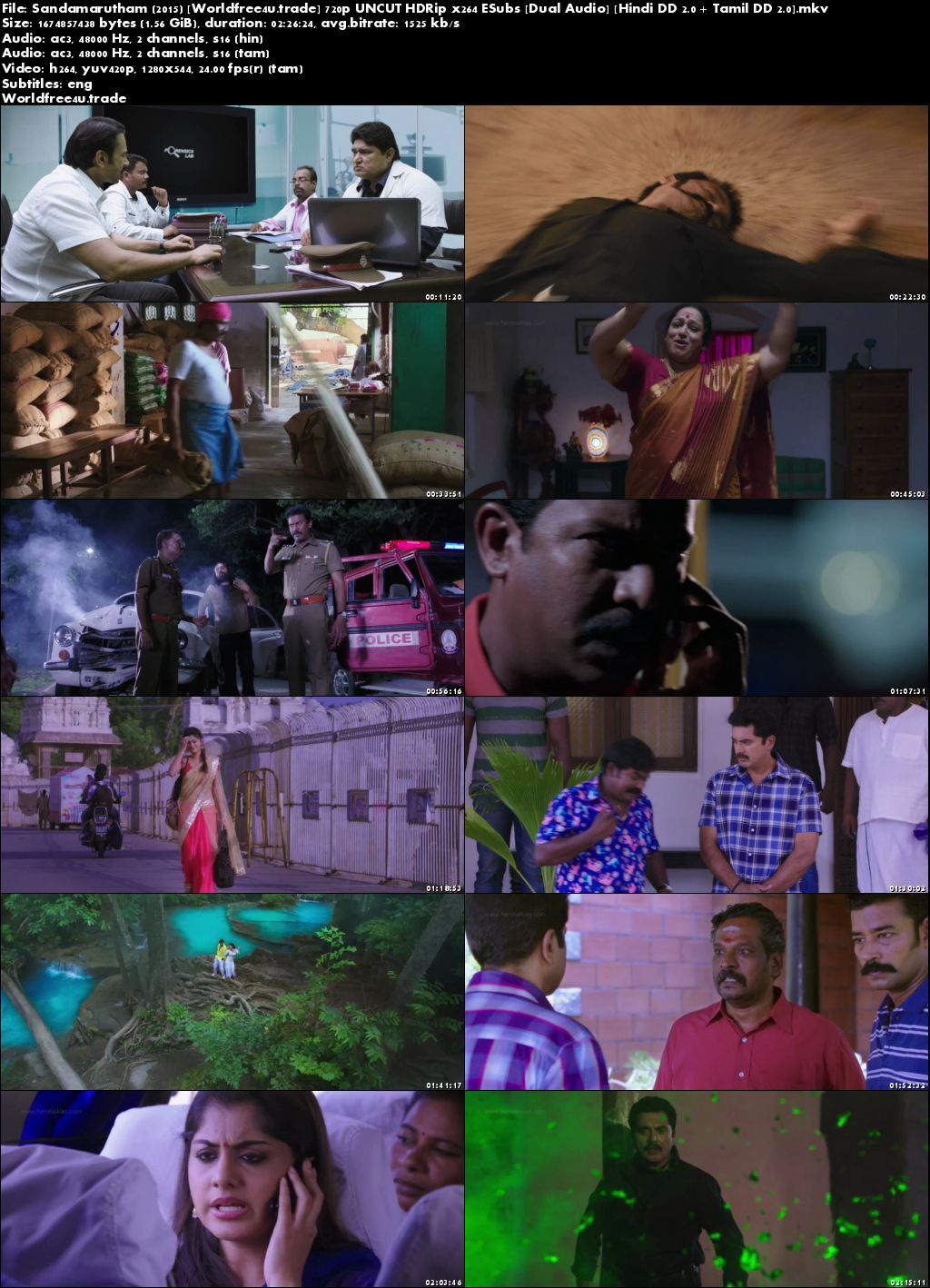 Sandamarutham 2015 HDRip Hindi 1.1Gb UNCUT Dual Audio 720p Bolly4u.org