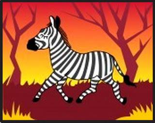 Zebra, el origen de su nombre, cuento.