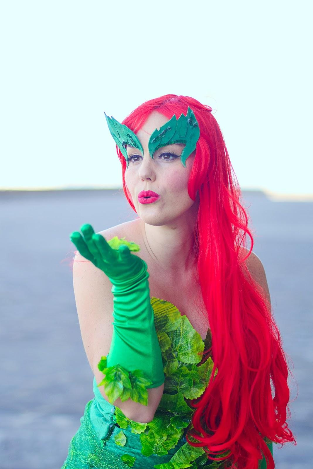 nery hdez, poison ivy , hiedra venenosa, carnaval, halloween , disfraz, costume
