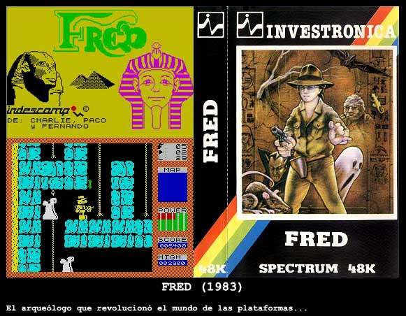 Secuela de Indiana Jones. 1983 Fred de Indescomp para Spectrum