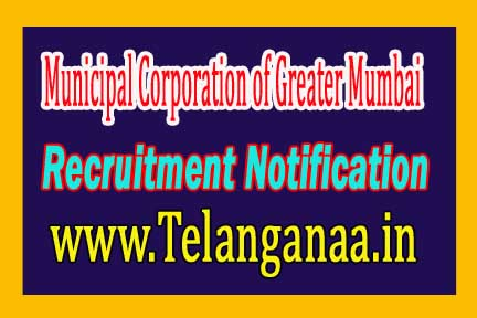 Municipal Corporation of Greater Mumbai MCGM Recruitment Notification 2017