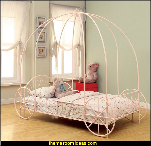 Twin Canopy Bed   Princess bedroom Furniture