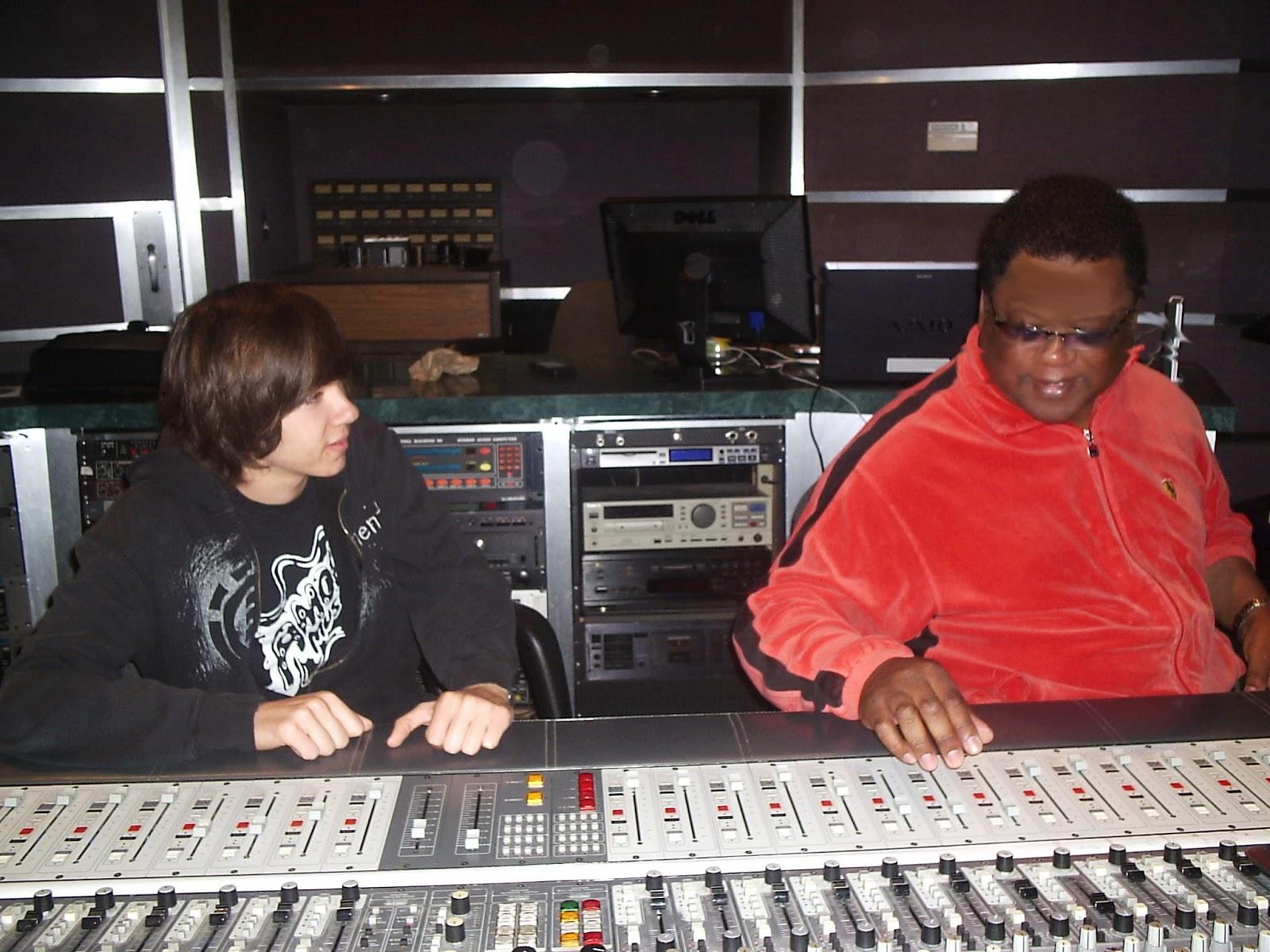 Jim Gardiner at Pajama Studio with mentoring student