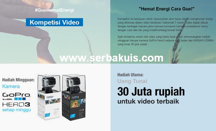 Kontes Hemat Energi Hadiah GoPro HERO 3 per Minggu