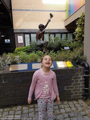 Miss T at Great Ormond Street Hospital ahead of her intensive physiotherapy rehab
