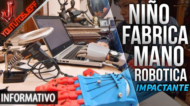 Niño boliviano que se fabricó una mano robótica