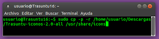 sudo cp -p -r /home/usuario/Descargas/Trasuntu-iconos-2.0-all /usr/share/icons