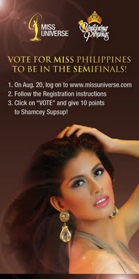 vote for Shamcey Supsup - Ms. Universe 2011