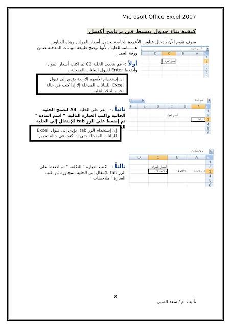 أساسيات برنامج اكسل Excel elebda3.net-5858-08.