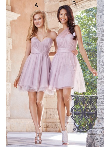 www.landybridal.co/hot-sale-sweetheart-natural-mini-tulle-purple-sleeveless-bridesmide-dress-with-ruched-lozm1503f.html