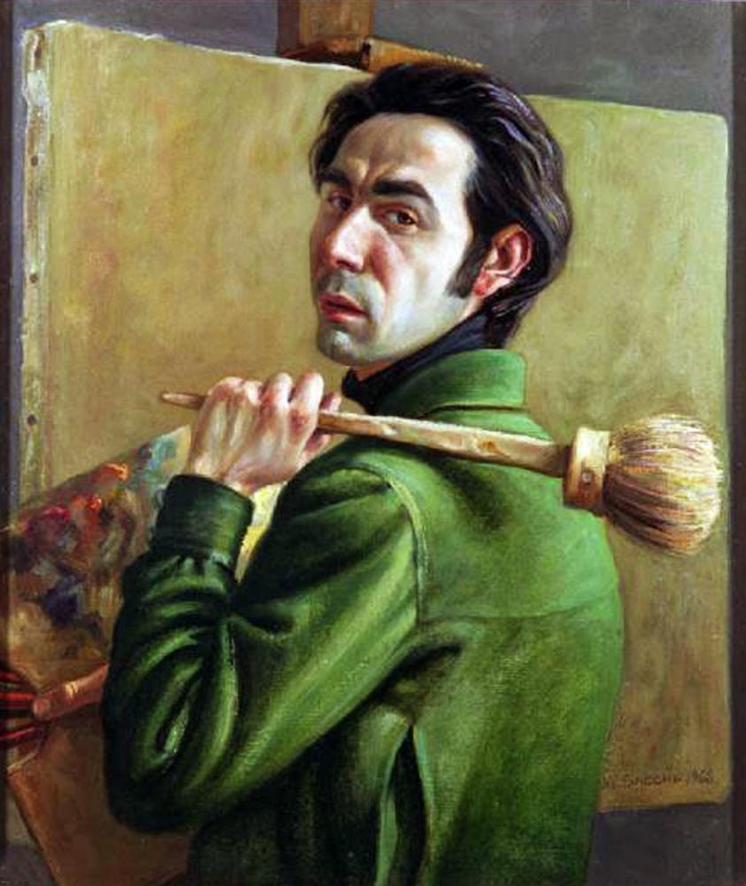 Sacchi Vladimiro, Self Portrait, Portraits of Painters, Fine arts, Portraits of painters blog, Paintings of Sacchi Vladimiro, Painter Sacchi Vladimiro