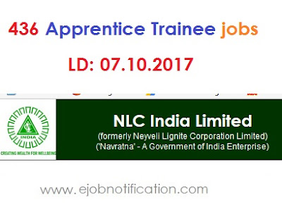NLC India Trainee Apprentice Job Notification 2017 www.nlcindia.com