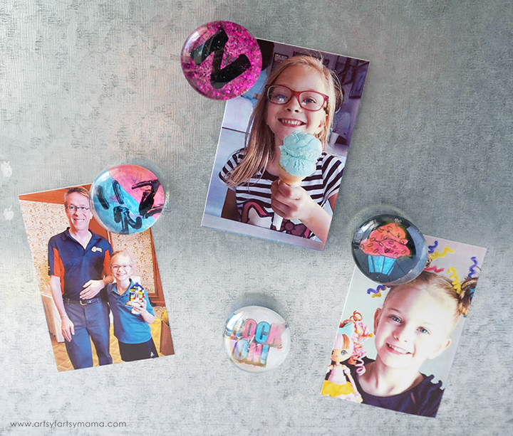 Encourage girls to make DIY Glass Gem Magnets with this kit from Creative Girls Club!