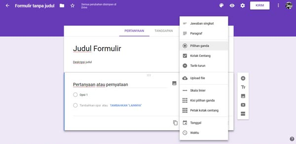contoh google form