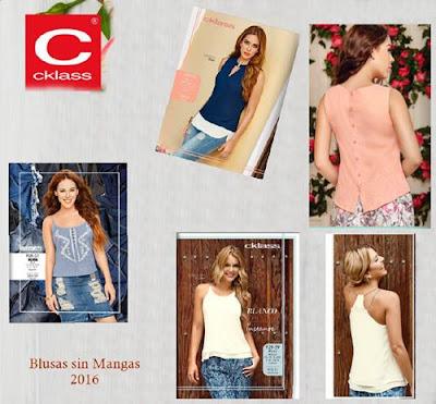 blusas sin mangas mujer cklass pv 2016