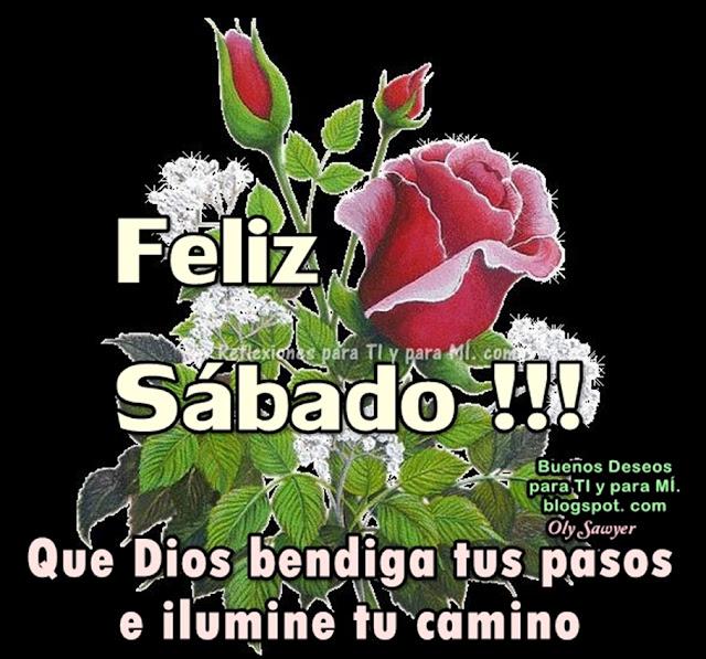 FELIZ SÁBADO !!!  Que Dios bendiga tus pasos e ilumine tu camino.