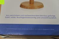 Bambus Info: Lumaland Cuisine Küchenrollenhalter aus Bambus mit Edelstahl Spitze, Ø ca. 14 cm x 32 cm