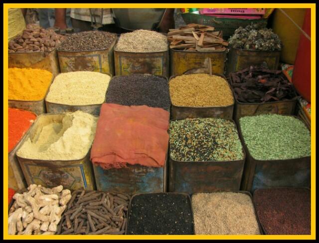 মশলার দোকান, spice market ,বিভিন্ন মশলার উপকারিতা
