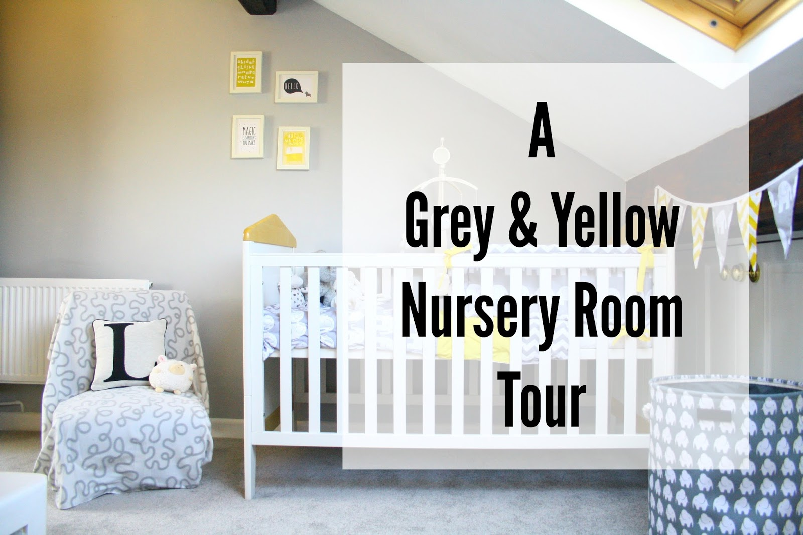 Grey And Yellow Baby Nursery Room Tour