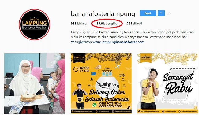 instagram banana foster lampung