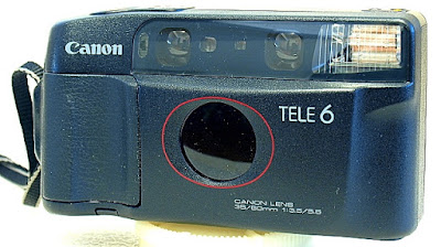 Canon Autoboy Tele 6, Front view