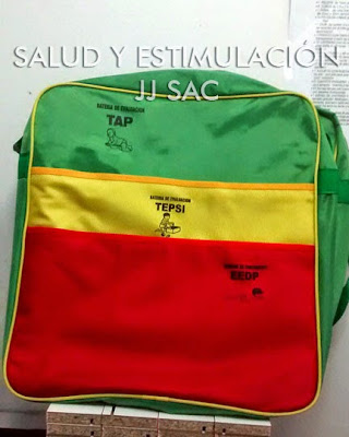 maletin lona Baterias TAP tepsi eedp colores verde amarillo rojo rasta