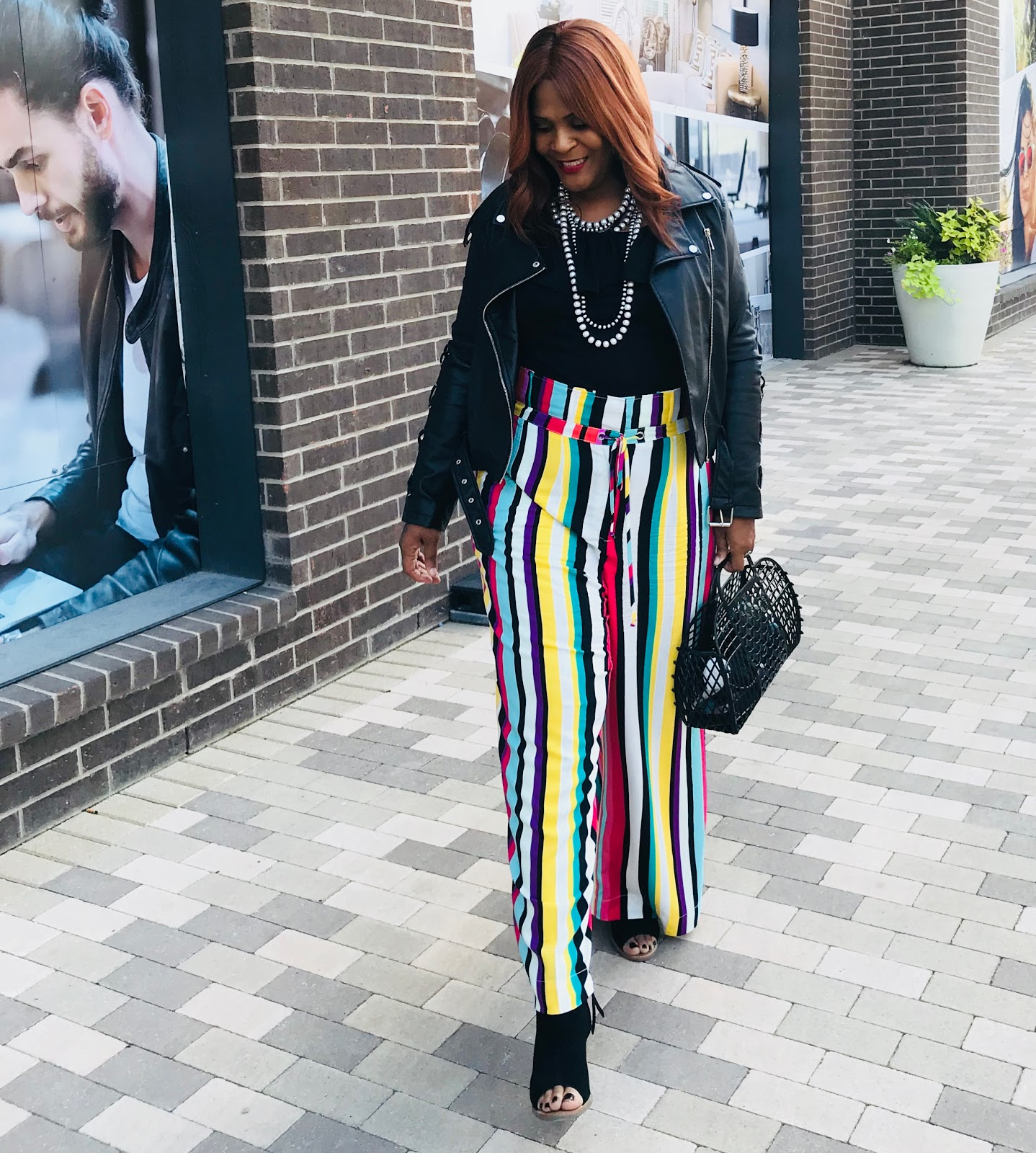Image: Woman showing how woman of a certain age can wear stripes even in the mist of a midlife style rutBut I realized I may be in a bit of a self-pity midlife crisis. Dang, I hate to say that or admit it to myself. #judgemystyle.