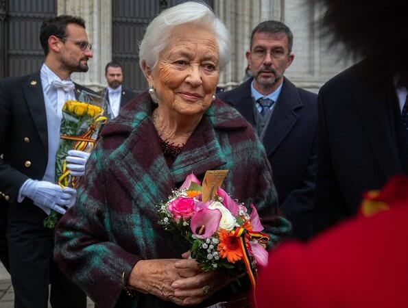 King Albert II, Queen Paola and Prince Lorenz of Belgium attended a Te Deum mass held on the occasion of the King's Feast