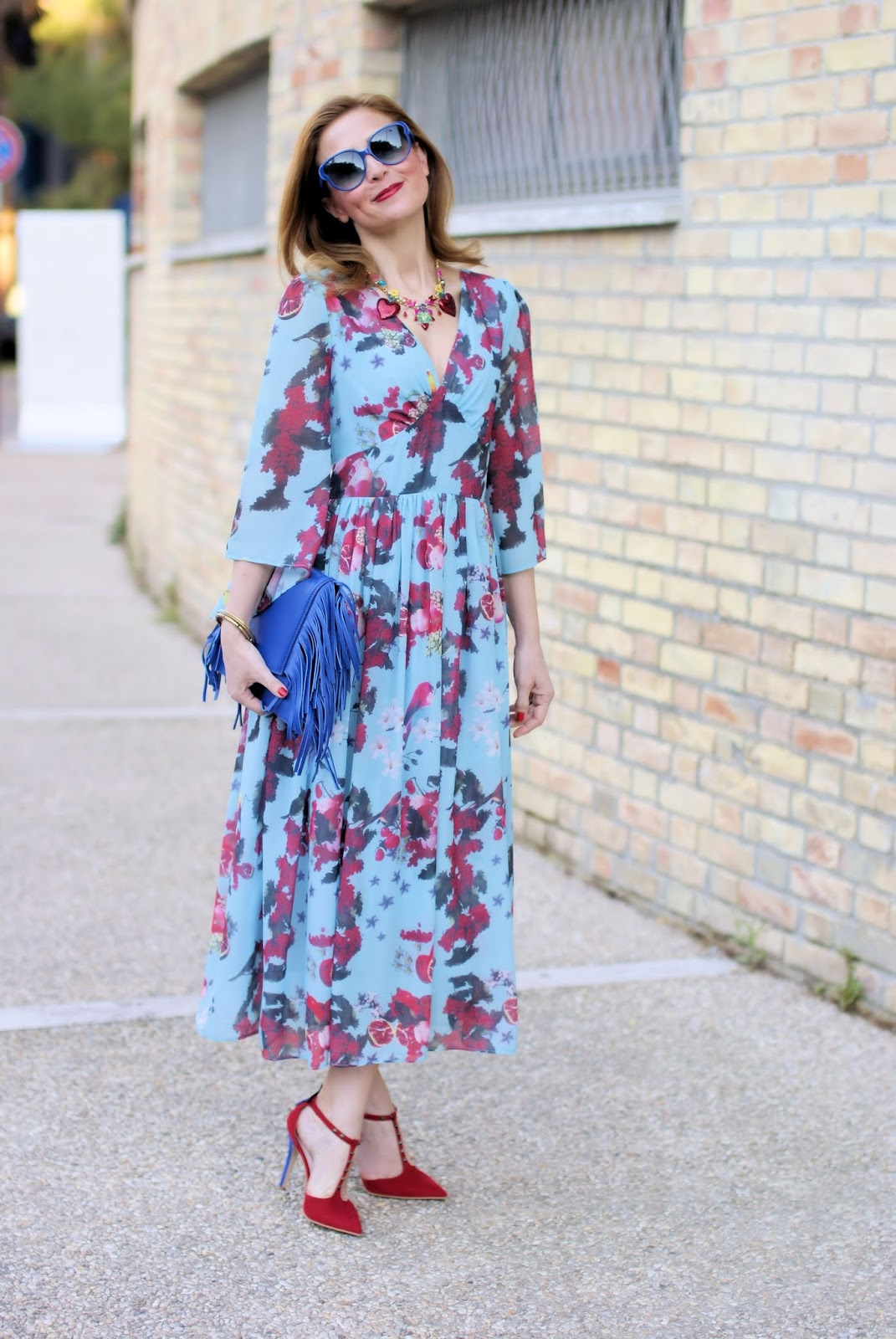 Metisu floral dress and shoes from Angela Pavese on Fashion and Cookies fashion blog, fashion blogger style