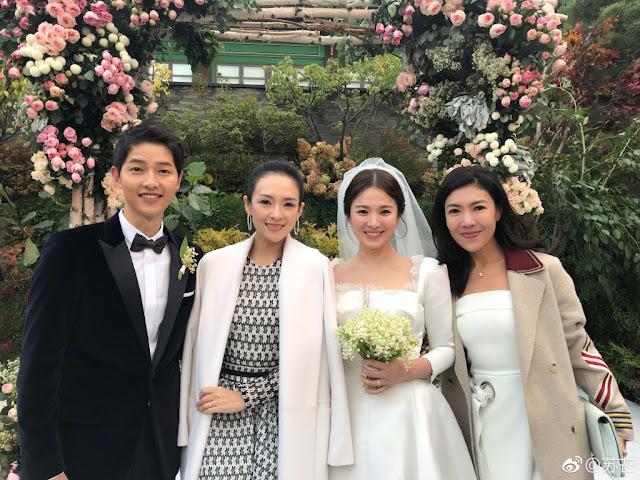 Song Joong Ki Song Hye Kyo wedding Zhang Ziyi Su Mang