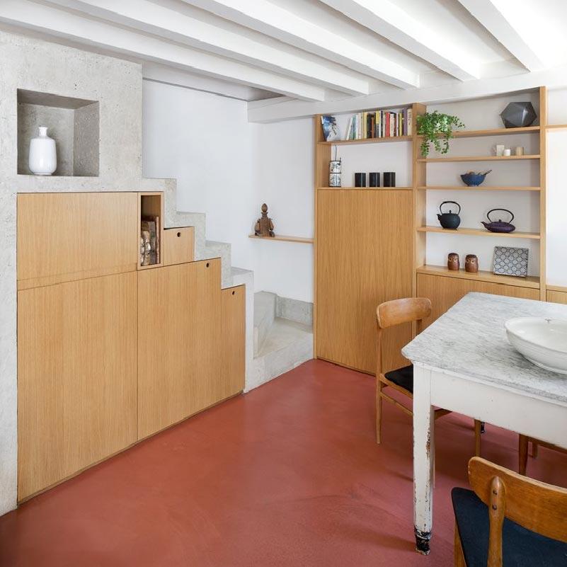 pavimento in calcestruzzo Cyan House