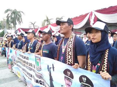 Peserta Kirab Pemuda 2018 Singgahi Kabupaten Pringsewu