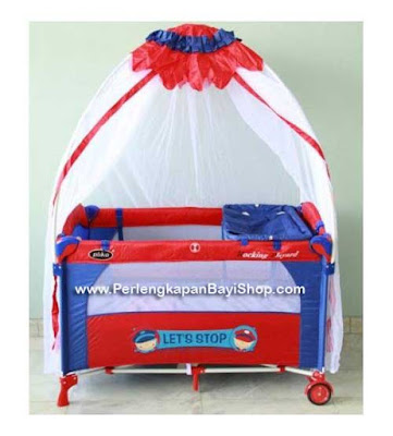 Baby Box Pliko Rocking Playard Merah