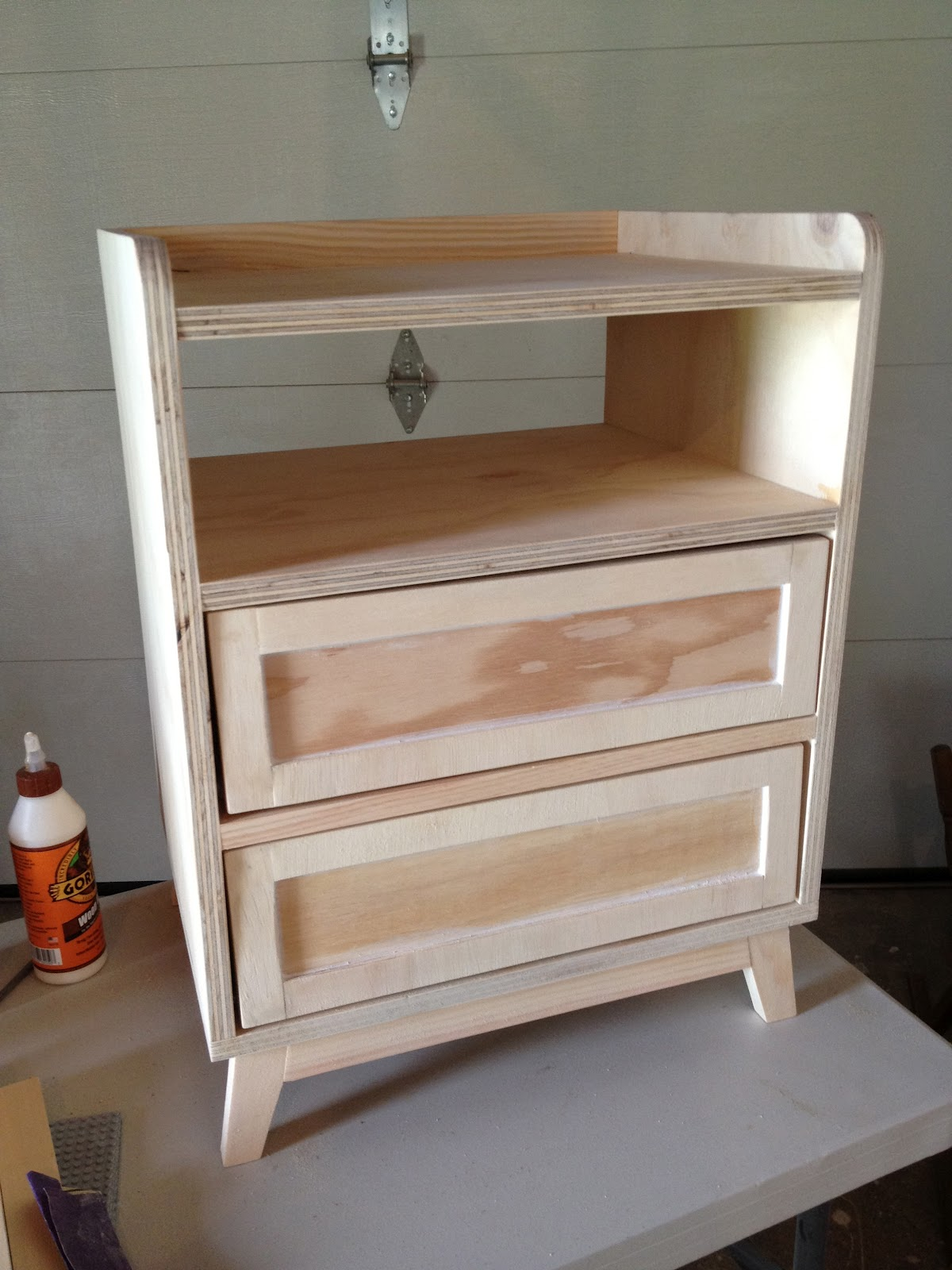 Remodelaholic modern diy nightstand for Tall nightstand ideas