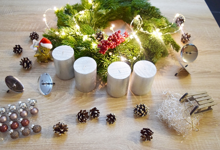 1 advent adventskranz diy just aelex. Black Bedroom Furniture Sets. Home Design Ideas