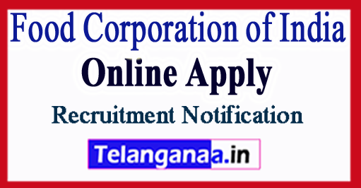 FCI Food Corporation of India Recruitment Notification 2017